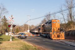 Reeder Road (Dan A. Davis) Tags: pn pennsylvanianortheastern gp9rm nhi newhopeandivyland railroad train locomotive lahaska newhope pa pennsylvania passengertrain