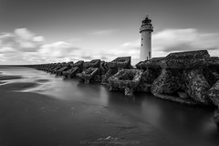 Perch Rock Defences (InShot Images) Tags: stephenennisphotography inshotimages landscapephotography landscape seascapephotography seascape blackandwhite longexposurephotography longexposure lighthouse defences beach uk newbrighton sea canon fineart