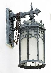 Front portico lantern, Redeemer Presbyterian Church, Charleston, SC (Hunky Punk) Tags: iron lantern lamp portico redeemer presbyterian andrew lutheran church charleston sc southcarolina ansonborough