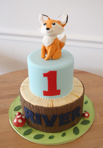 Fox Woodland Birthday Cake