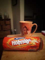 Must be getting old! After a stressful week a wee coffee and hobnob is the perfect way to start my weekend! (HeideKlein_OrangenKopf) Tags: tgif weekend biscuit hobnob disney belle cup mug beautyandthebeast coffee