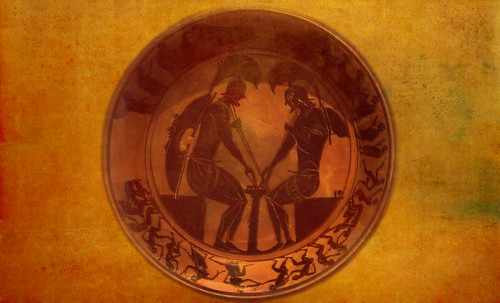 "Petteia - Ludus Latrunculorum  / Iconografía de las civilizaciones helenolatinas • <a style=""font-size:0.8em;"" href=""http://www.flickr.com/photos/30735181@N00/32522206655/"" target=""_blank"">View on Flickr</a>"