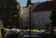 market.. (lubokl47) Tags: morning market brno czech outdoor lamps people parasol
