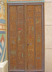 Hieroglyphics on door in Ibn Battuta mall dubai (usman9) Tags: mall dubai uae ibn battuta jabelali