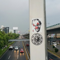 Mexico (PSYCO ZRCS 10/12) Tags: street art mexico sticker stickerart stickers vinyl slap tagging psyco bombing slaps 2015 hkr stickerporn stickerlife