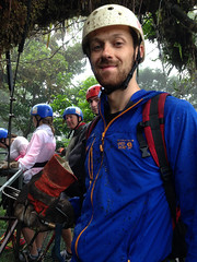 Getting muddy while ziplining