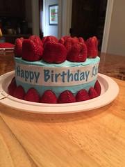 Strawberrry Cake by Vicki, Santa Cruz, CA, www.birthdaycakes4free.om