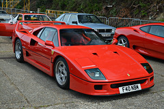 Ferrari F40 (CA Photography2012) Tags: auto show ca red horse classic car museum photography italian italia day grand automotive icon ferrari event exotic vehicle gt eighties legend rosso coupe supercar v8 corsa prancing f40 brooklands tourer 2015 hypercar f40nbm