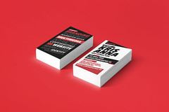 Matator red typography business card (lemongraphic) Tags: red cards typography corporate creative minimal clean business card cheap template businesscard premium redandwhite corporateidentity