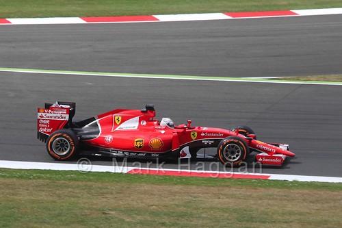 Sebastian Vettel's Ferrari in Free Practice 3 at the 2015 British Grand Prix