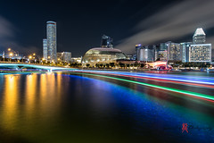Cityhall (Darrell Neo) Tags: longexposure light reflection river landscape nikon cityscape d750 boattrails 1424mm darrellneo