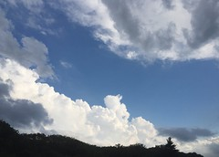 Standstill (8/4/15) (A Million Shards of Light) Tags: road travel blue summer nature skyscape landscape highway peace escape traffic awesome fluffy august grace formation massive cumulus vista moment swept standstill impressive humbling towering skyway mindful