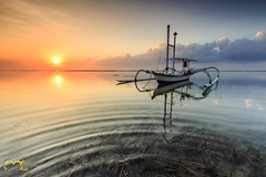 Karang Beach (MadeArdika) Tags: bali beach sunrise indonesia landscape eos boat asia filter 1022mm gnd canon600d pantaikarang madeardika