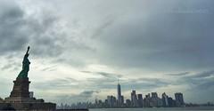 #Freedom #Skyline #NYC (Prakash Goteti) Tags: nyc newyorkcity skyline freedom manhattan wtc statueofliberty iphone oneworld lberty