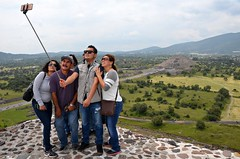 Selfie on the Sun (Pedestrian Photographer) Tags: sun moon mountains mexico pyramid teotihuacan group july ciudad stick pyramids friday travelers selfie ribbet 2015 toursts dsc7155 dsc7155b