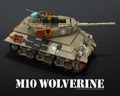 M10_wolverine_02 (bijanz) Tags: usa army tank lego military worldwar wolverine m10 legotank