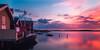 Grundsund harbour at sunset (mpakarlsson) Tags: ocean longexposure sunset sea sky sun sunlight house reflection water mirror bay sweden harbour outdoor nd bohuslän grundsund ndfilter nd16