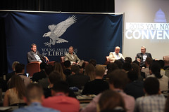 Roger Ream, Jeff Deist, Lawson Bader & Lawrence Reed (Gage Skidmore) Tags: jeff reed liberty for dc washington lawrence university catholic young national larry convention americans roger bader lawson ream frazee 2015 deist