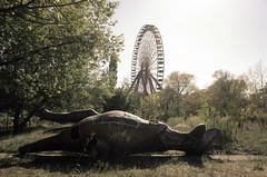 The good old time (elisachris) Tags: plänterwald treptow berlin natur landschaft landscape dinosaur dinosaurier jurassicpark nostalgie ricohgr