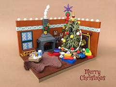 Merry Christmas everyone! (-Wat-) Tags: lego christmas xmas weihnachten santa claus tree family jesus