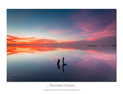 ... trio Colors Sunset ... (liewwk - www.liewwkphoto.com) Tags: 适耕庄 sekinchan selangor mud beach reflection sunset 日落 dusk liewwk liewwknature liewwkphotohunters leefilter rgnd cpl filter fotopro