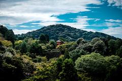 Kyoto Pagoda (stickyfiddle) Tags: japan kyoto mountain shrine temple trees nature rural bhuddist zen sky japanese travel fuji xt1