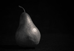 peary dark day (auntneecey) Tags: dark fruit blackandwhite pearydarkday 365the2017edition 3652017 day20365 20jan17