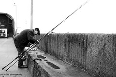 Fishermans blues. ((c) MAMF photography..) Tags: angling fishing angler fisherman britain blackandwhite blackwhite bw biancoenero beauty beautiful candid blancoynegro blanco blancoenero dark d7100 england enblancoynegro eastyorkshire eastcoast flickrcom flickr google googleimages gb greatbritain greatphotographers greatphoto harbour bridlington inbiancoenero image mamfphotography mamf monochrome nikon noiretblanc noir north nikond7100 negro northernengland photography photo pretoebranco people schwarzundweis schwarz uk unitedkingdom upnorth yorkshire zwartenwit zwartwit zwart