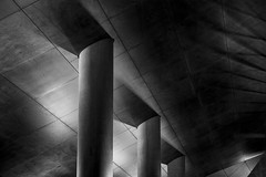 support (Greg Rohan) Tags: blackandwhite bw sydney darlingharbour building roof lightanddark nightphotography support monochrome d7200 2017 abstract architecture column surreal texture