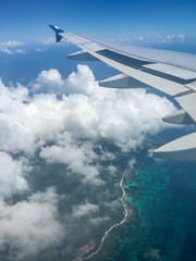 Seychelles from the air (malc1702) Tags: islands ocean viewfromtheaeroplane turquoisebeaches coastline nature beauty scenery scenic clouds seychelles travel vacation holiday iphone6splus iphonecamera windowseat aircraft aeroplane airseychelles viewfromabove upinthesky