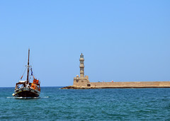 Chania, Greece (MikeDallas88) Tags: chania greece crete oldharbour lighthouse