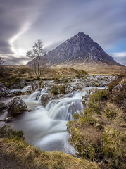 Buachaille Etive Mor, Glencoe, Scotland, February 3rd 2017. (Gary Alexander landscapes) Tags: buachailleetivemorglencoe scotland february3rd2017 buachaille etive mor glencoe glen long exposure waterfall scottish mountain tree lee big stopper dramatic color colour tripod canon 6d 17 mm 40 l lens landscape light location winter water stones stone tundra munro absolutelystunningscapes breath taking landscapes