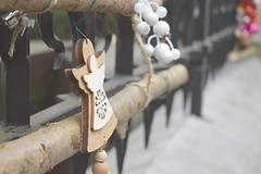 Christmas remains... (Maria Godfrida) Tags: christmas angels angel fence fences fencedfriday winter decoration