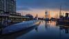 Bremerhaven II (Martin.Merz) Tags: uboot submarine bremerhaven meer wasser water reflection sonnenuntergang segelboot klimahaus sail center