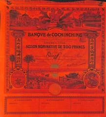 BANQUE DE COCHINCHINE (scripofilia) Tags: azioni banque banquedecochinchine cochinchine