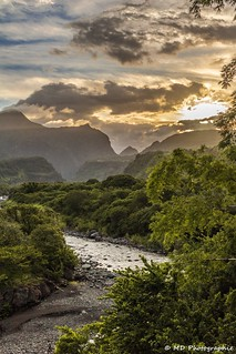 river & sunset