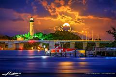 Jupiter Lighthouse Amazing Colors Full Moon Rise (Captain Kimo) Tags: aurorahdr2017 easyhdr florida hdrphotography jupiter jupiterlighthouse nikhdrefx