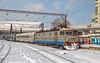 EA1 105 ~ Bucuresti Nord (mariuscfrbucuresti) Tags: 4101057 depoul brasov vehicle train outdoor snow zapada 105 clasica dunga rosie bucuresti nord sibiu 1526 ir linia 14 2187 2176