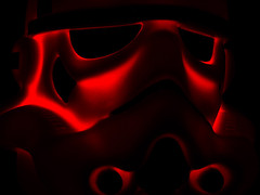 Portrait from Hell (fstop186) Tags: portrait hell threat menace horror scifi eyes mask lines curves shadows shape form texture red blood devil soldier trooper stormtrooper hades robot cyborg starwars face dramatic moody brooding frightening dark evil