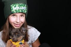 Squad (E Cebollero) Tags: homestudio flashphotography flash pomchi chihuahua daughter kidportraits portraits kid dog squad