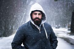 Under snow (fs.photovideo) Tags: portrait portraiture portugal serradaestrela serra sierra snow white mood man boy bro brother trip cold winter