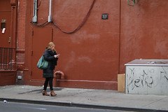 A woman on 49th Street near 9th Avenue. (kevinrubin) Tags: newyork unitedstates us
