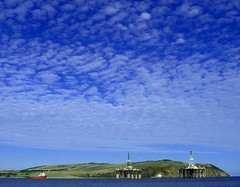 Two rigs passing (ccgd) Tags: rigs clouds sky scotland sutor cromarty highlands