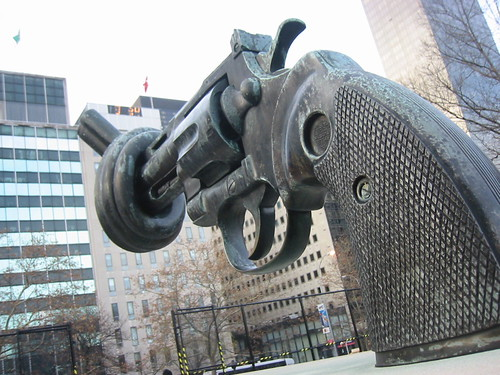 UN Anti-gun sculture