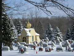 Crypt with Snow (phool 4  XC) Tags: school snow christian monastery mementomori seminary orthodox orthodoxchristian mostfaves sttikhons  phool4xcnetphotos thegalleryoffinephotography phool4xc