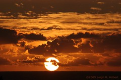~ Sunrise rising over the edge of the Pacific Ocean ~ May the sun bless all the world with Life ~ (SparkyLeigh) Tags: clouds sunrise hawaii pacific sparkyleigh interestingness3
