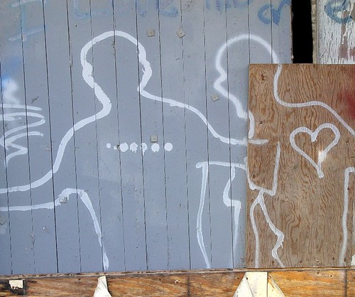 graffiti body outlines