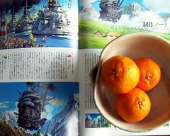 oranges and movie brochure - by shop boy