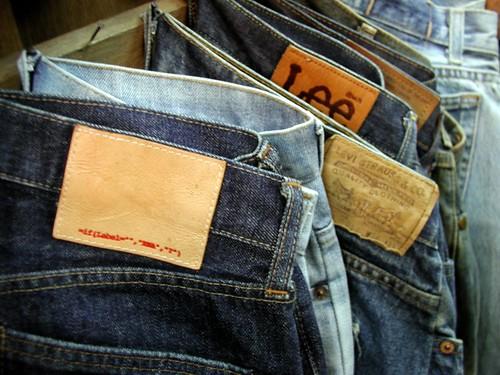 broken counterfeit jeans