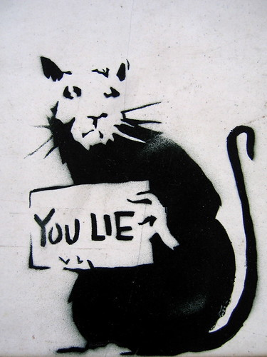you lie by banksy